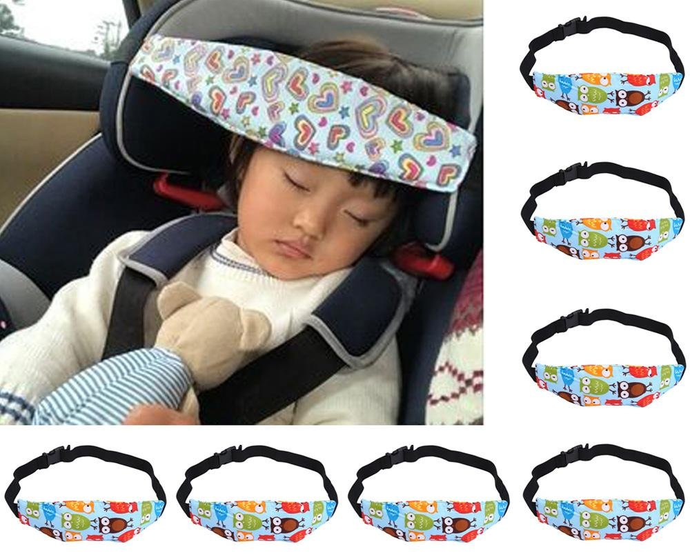 Baby Bear Blue MV Essentials Car Seat Head Strap Band Support Kids Toddler Baby Child Carseat neck Pillow Rest