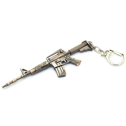 Mingfi M4 - Llavero de metal con forma de pistola, colgante ...