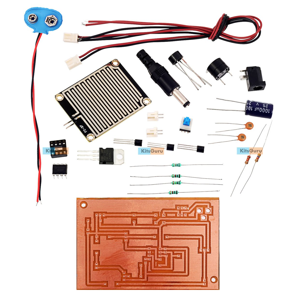 Diy Kit Rain Alarm Lgkt079 Simple Circuit Projects Project And Diagram Using 555 Timer Ic
