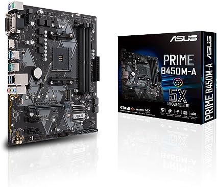 ASUS PRIME B450M-A - Placa base AMD AM4 mATX con conector Aura Sync RGB, DDR4 3200 MHz, M.2, HDMI 2.0b, SATA 6 Gbps y USB 3.1 Gen. 2, soporta Ryzen 3000: Asustek: Amazon.es: Informática