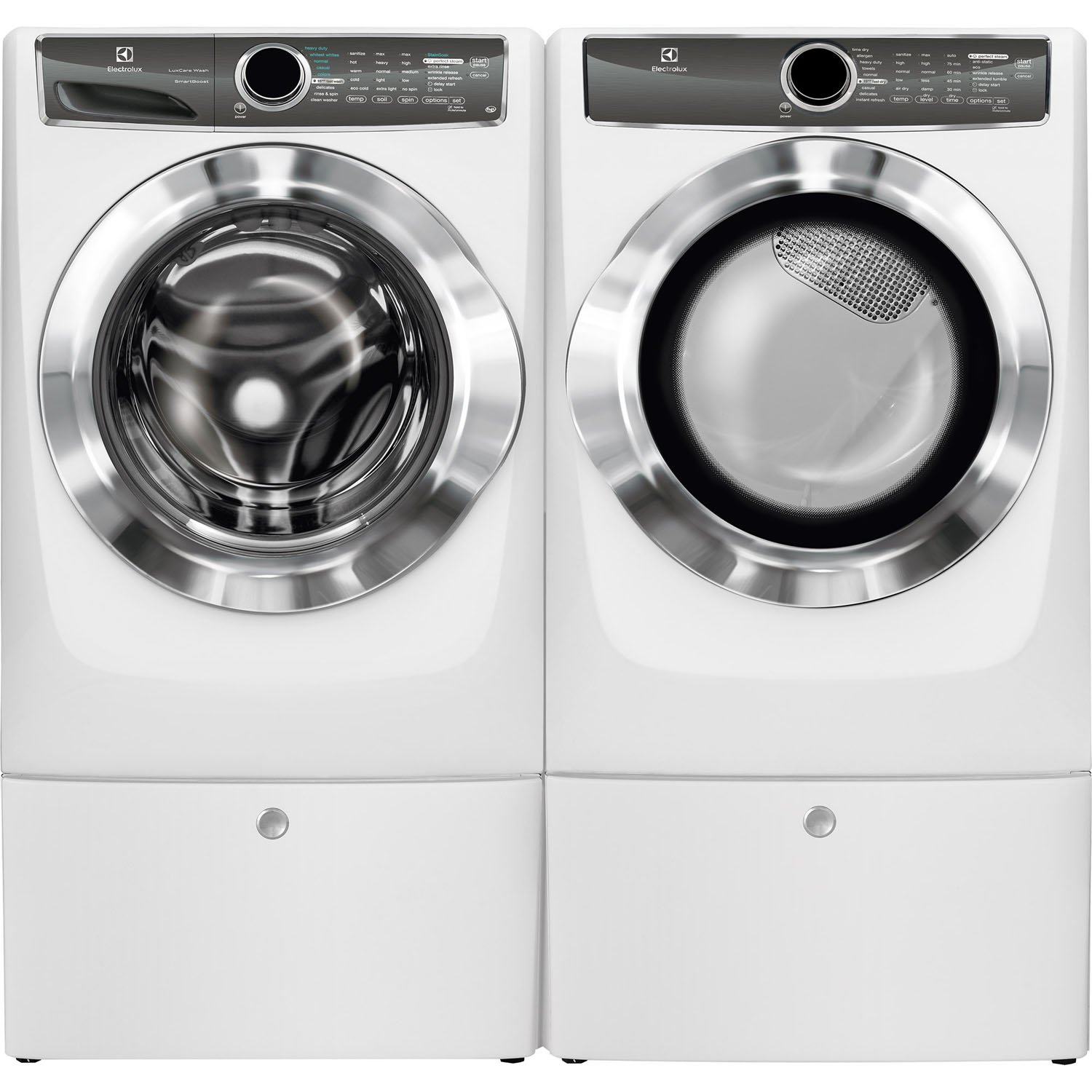 pedestal electrolux dryer main washer or storage feature