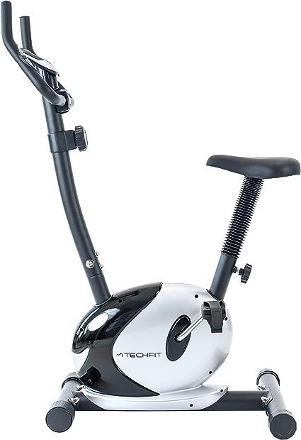 TechFit B36A Bicicleta Estática, con Sistema de Frenado Magnético, 8 Niveles de Resistencia, Volante de Inercia de 4 KG, Sillín Ajustable, Pantalla de 6 Funciones: Amazon.es: Deportes y aire libre