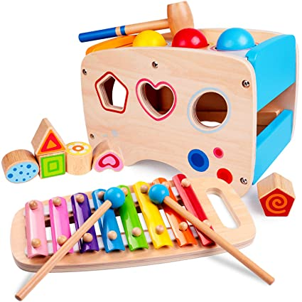 Amazon.com: Rolimate - Juguetes de madera para aprender ...