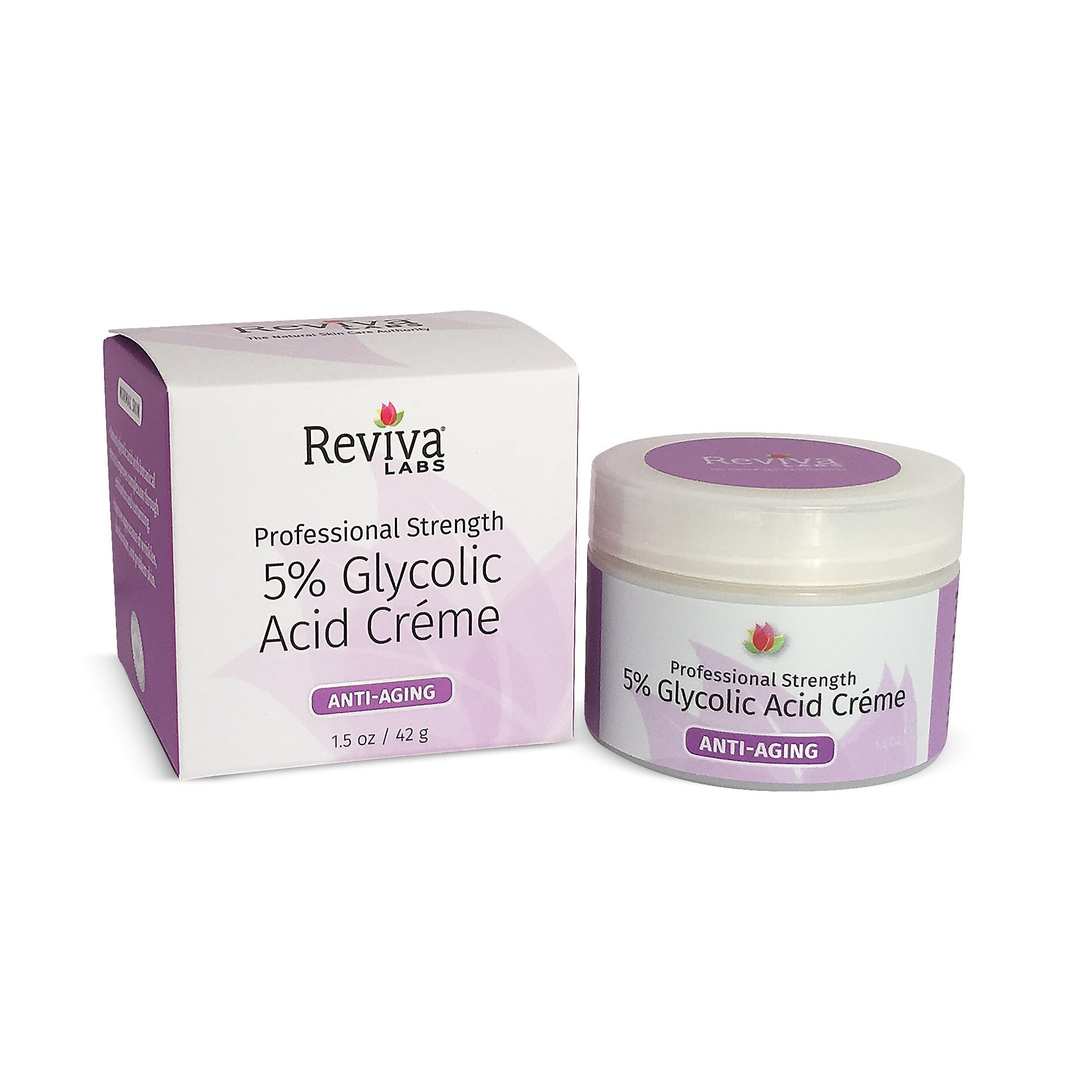 Reviva Labs 5% Glycolic Acid Cream, 1.5 oz.