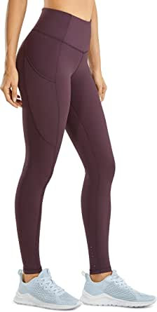 CRZ YOGA Women's Luxury High Waisted Yoga Pants with Pockets Athletic Leggings-28 inches