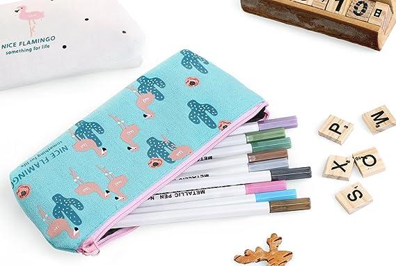 HiChange - Estuche de tela para estudiantes, monedero, neceser, bolsa de maquillaje: Amazon.es: Oficina y papelería