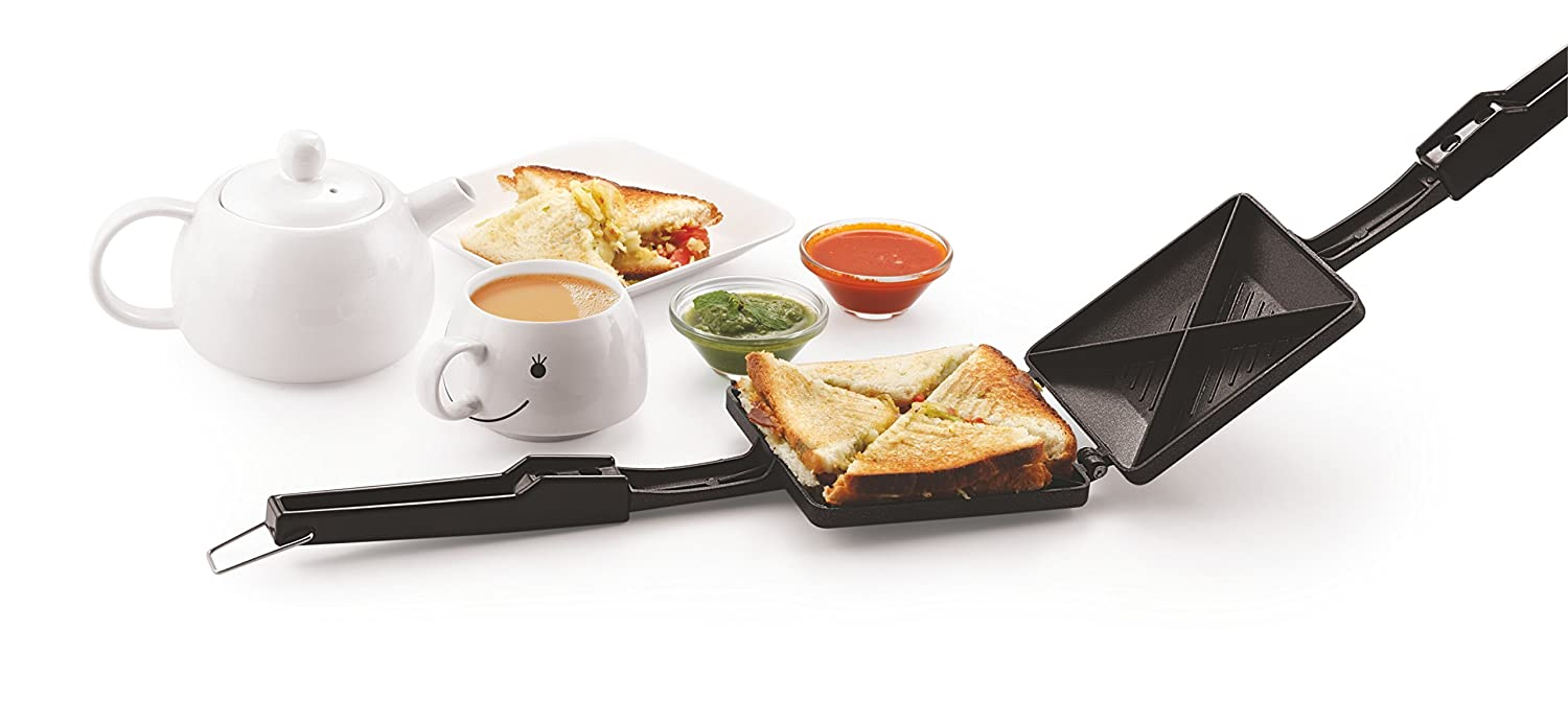 Tosaa Quadra 4-Cut Gas Sandwich Toaster (Black)