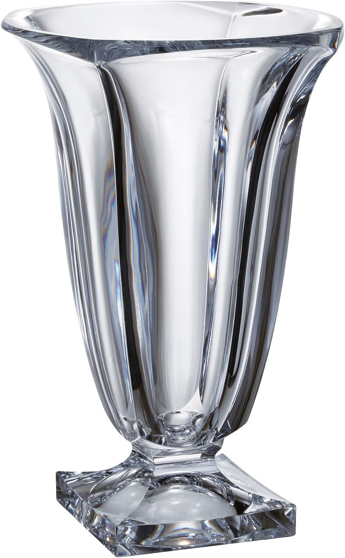 Lead Free Crystalline Barski Made in Europe 12  Height European Glass Vase