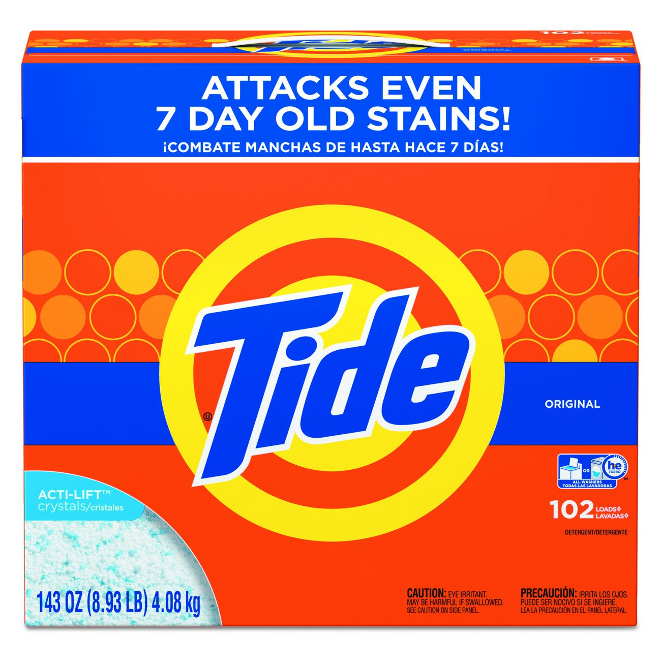 Tide 85006 Powder Laundry Detergent, Original Scent, 143oz Box, Pack of 2, 10.75'' Height, 9.63'' Width (Pack of 2) by Tide