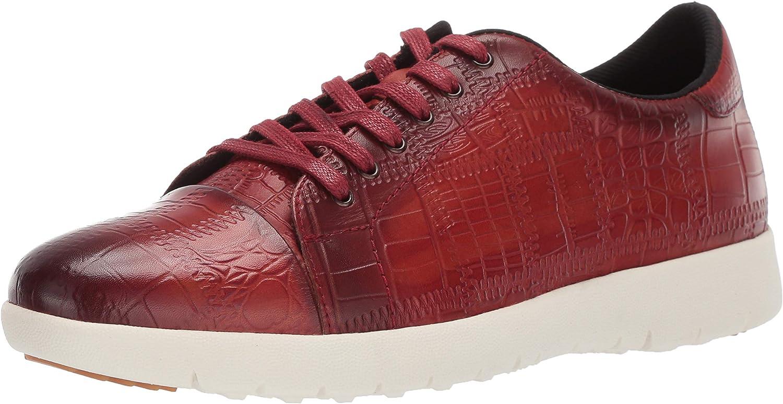 STACY ADAMS Men's Halcyon Exotic-Print Cap-Toe Lace-up Sneaker