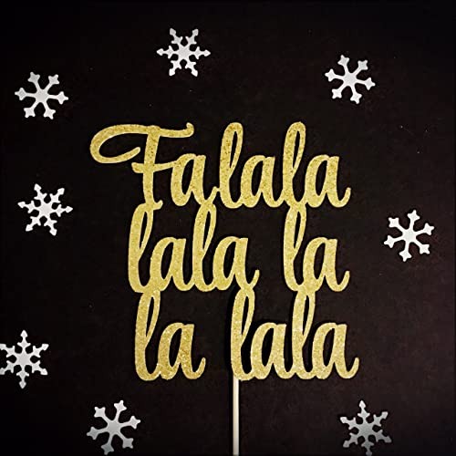 fa la la la la cake topper christmas cake topper merry christmas cake topper - Christmas Cake Decorations Amazon