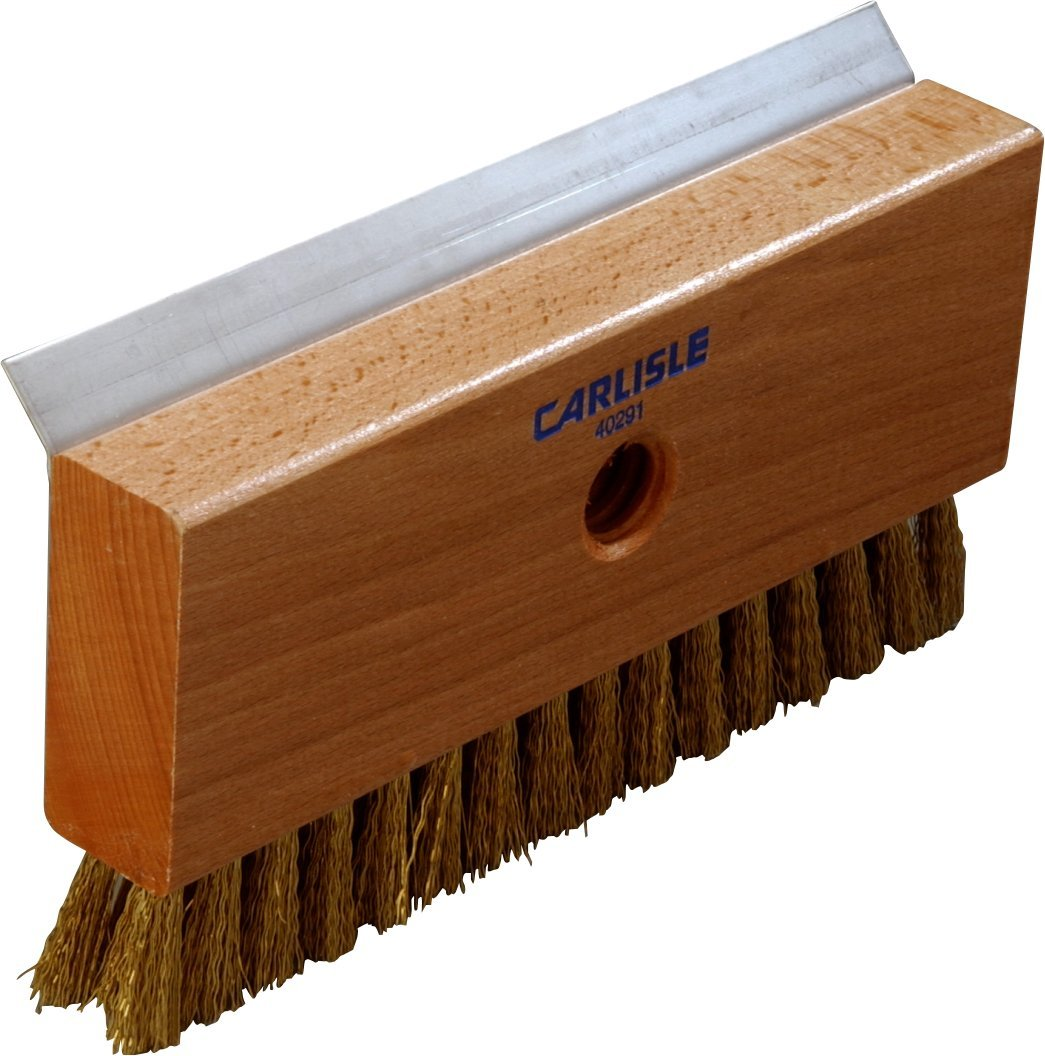 Carlisle 4029100 Oven Brush and Stainless Steel Metal Scrapers, Brass Wire Bristles, 8-1/2'' Length x 4-1/4'' Width x 1-1/2'' Height by Carlisle