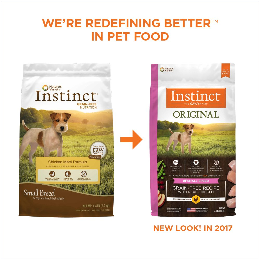 Instinct Original Small Breed Grain Free Chicken Meal Formula Natural Dry Dog Food by Nature's Variety, 4.4 lb. Bag by Nature's Variety (Image #3)