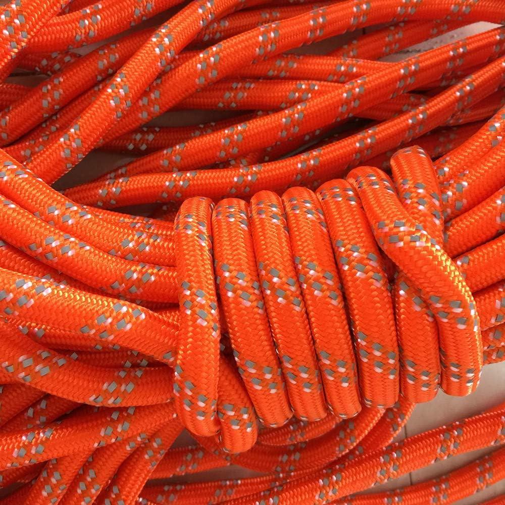 Vektenxi Outdoor reflektierende Nylonschnur Camping Zelt Seil Winddicht Zelt Markise Cord Guy Seil Linie f/ür Erholung im Freien gewebt f/ür hohe Festigkeit 20M Orange