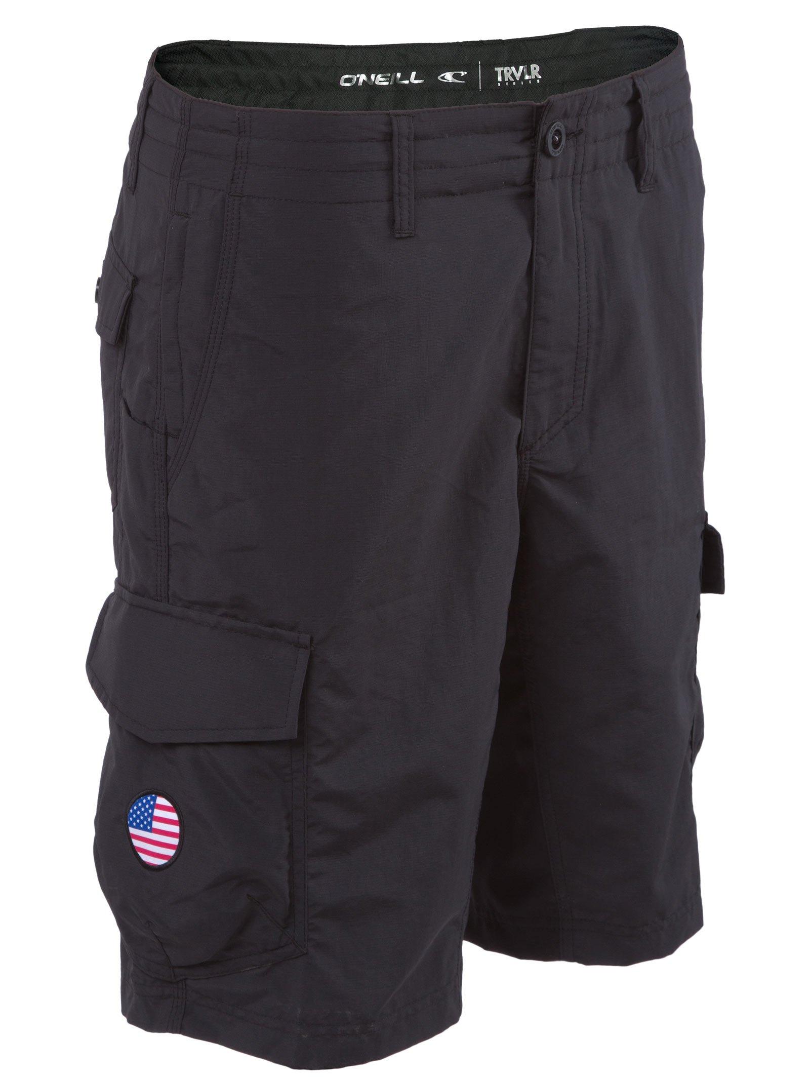 O'Neill GI Jack Traveler Hybrid Boardshorts 40 Solid Black (SU718A101Q)