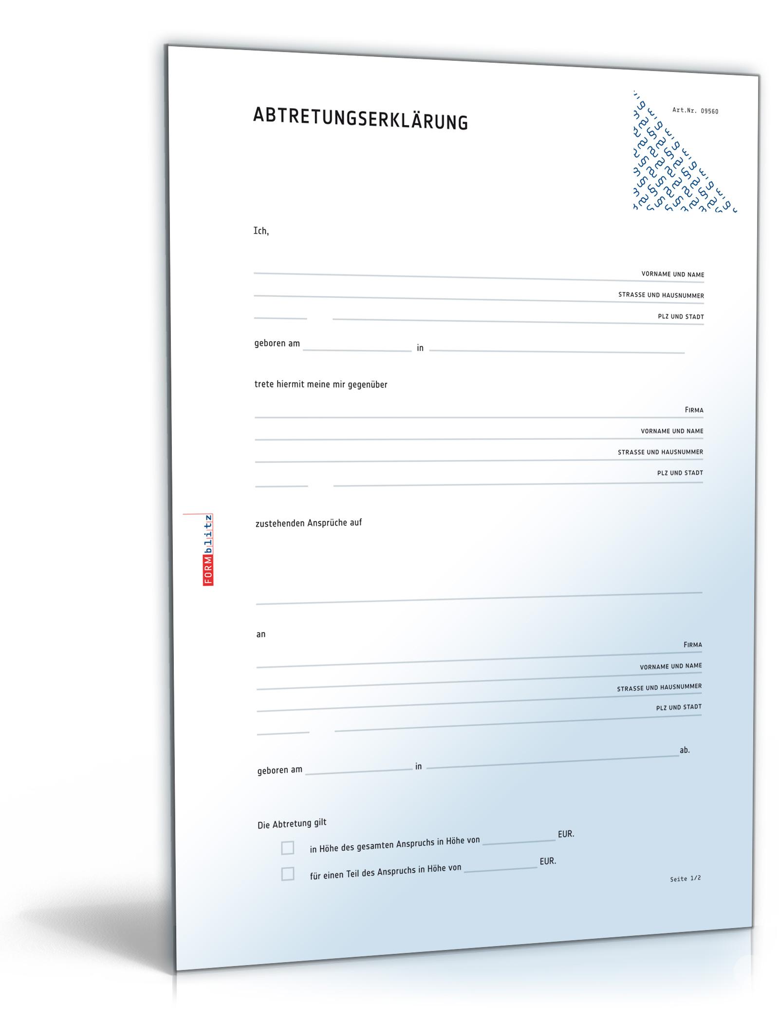 Abtretungserklarung PDF Download Amazonde Software