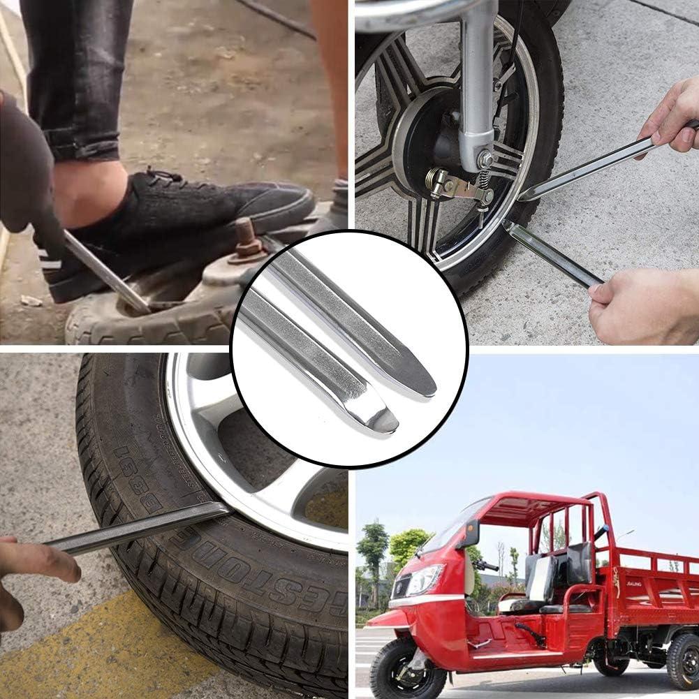 BETOY Leve per Pneumatici Moto 30 x 19,2 x 0,6 Biciclette e Motociclette Argento 2 Pezzi Leva Pneumatici Attrezzi Durevole Kit per Cambio Pneumatici per Auto Elettriche