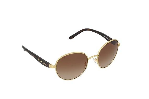 152ddfad1428 Michael Kors SADIE III MK1007 Sunglasses 100413-52 - Gold Frame, Smoke  Gradient MK1007