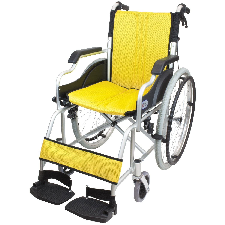 ケアテックジャパン 自走式車椅子 ハピネスコンパクト CA-10SUC (イエロー) B079SZFQK1 イエロー イエロー