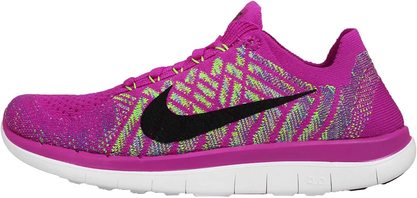 Nike Free 4.0 Flyknit Womens Running Shoes 7 FUCHSIA FLASH/ALUMINUM/PERSIAN VIOLET/Negro: Amazon.es: Zapatos y complementos