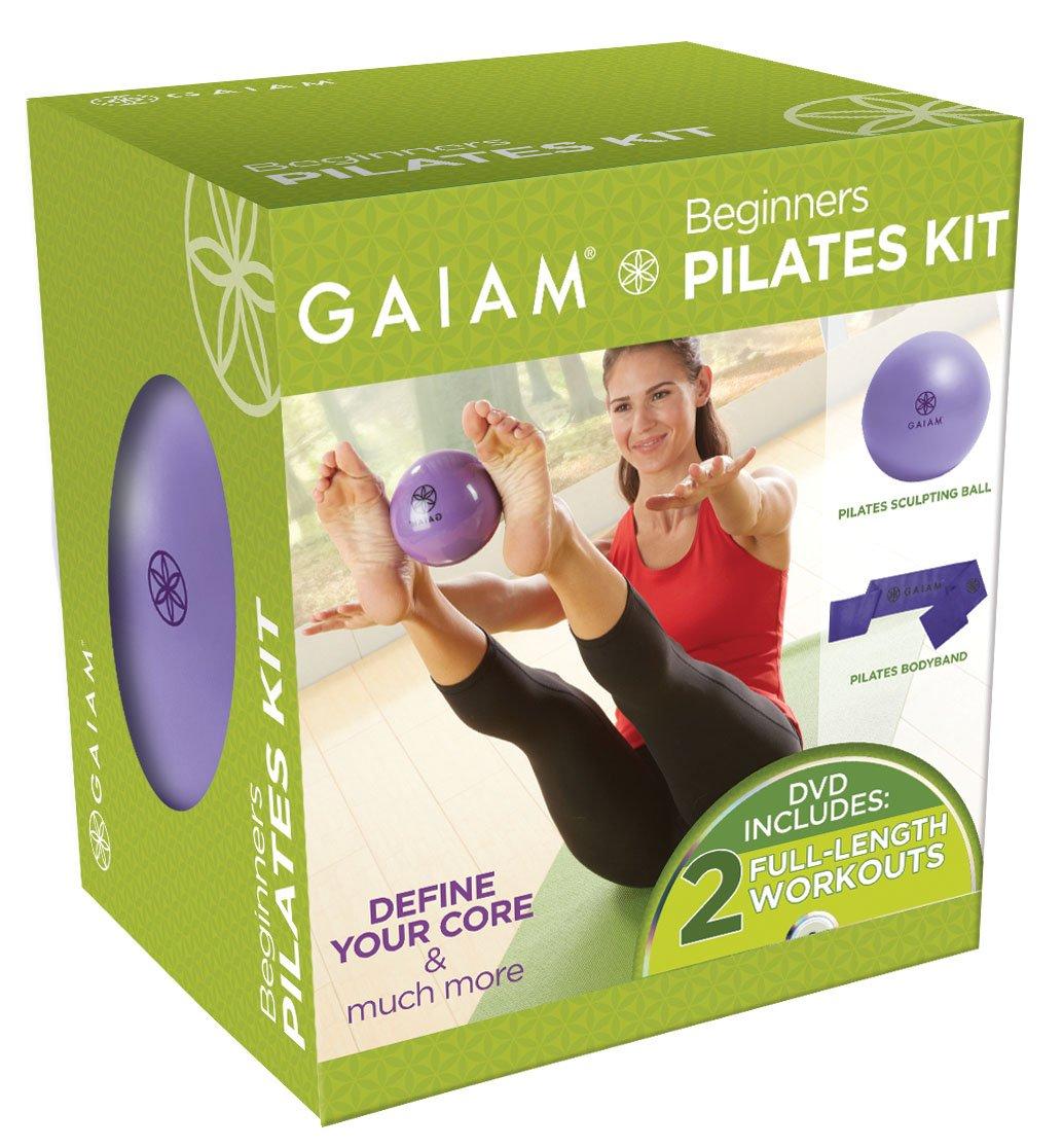 amazon com gaiam beginner u0027s pilates kit exercise balls