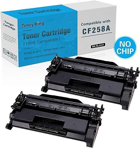Toney King - Cartucho de tóner Compatible con HP 58A CF258A 58X ...