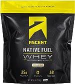 Ascent Native Fuel Whey Protein Powder - Vanilla Bean - 4