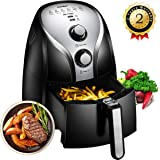 Comfee 1500W Multi Function Electric Hot Air Fryer with 2.6 Qt. Removable Dishwasher Safe Basket(Black)