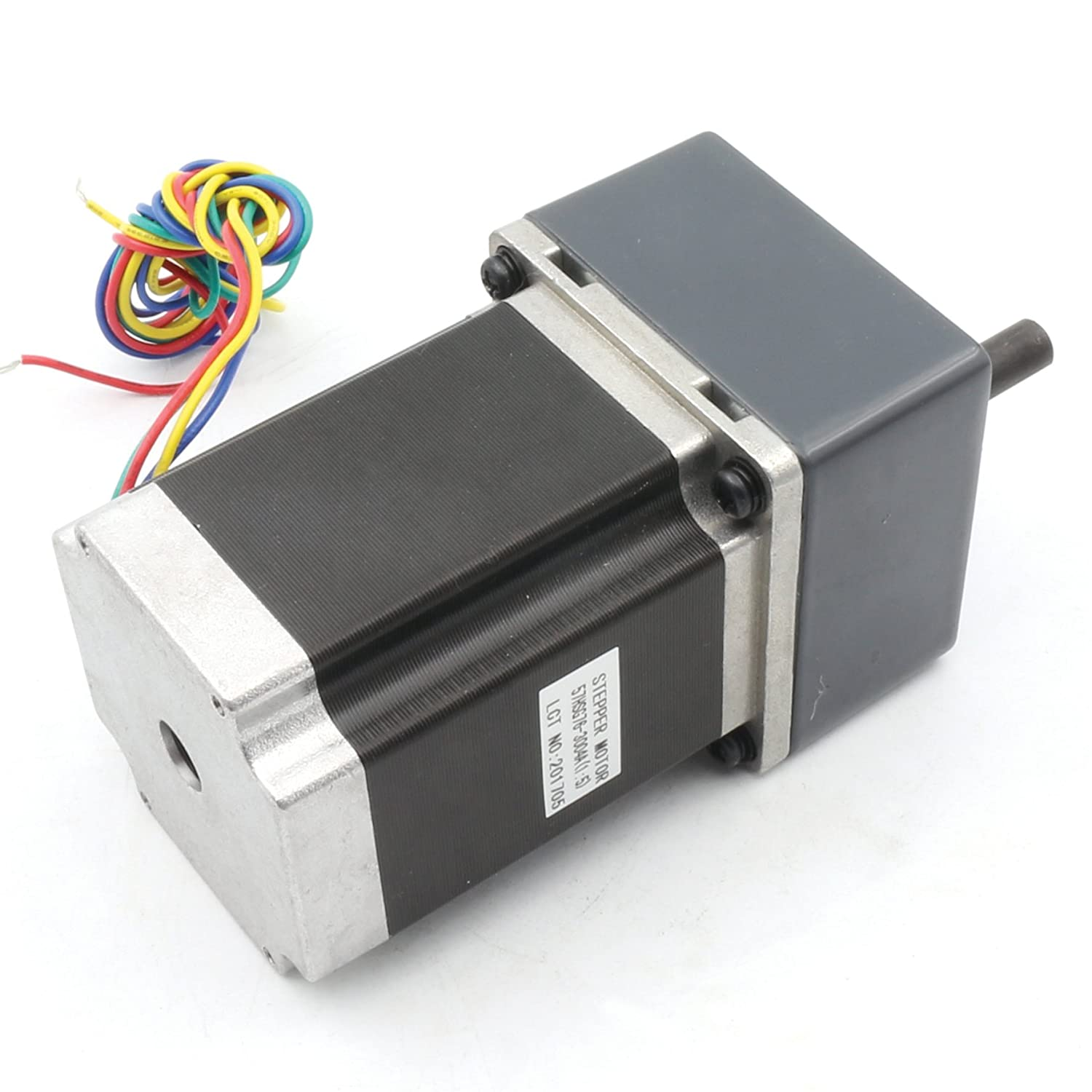 Ltd Ratio 1:5 Gearbox Nema23 Geared Stepper Motor 76mm 850oz-in 3A 4-Lead High Torque Speed Reduction Motor with Gear Box Motor for CNC Milling Lathe Router Engraving Machine Changzhou Rattm Motor Co