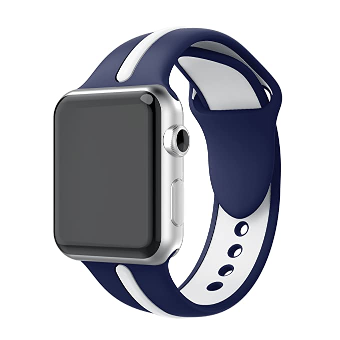 33 opinioni per Cinturino for Apple Watch 38mm, TOPsic Morbido Silicone Braccialetto Sportiva di