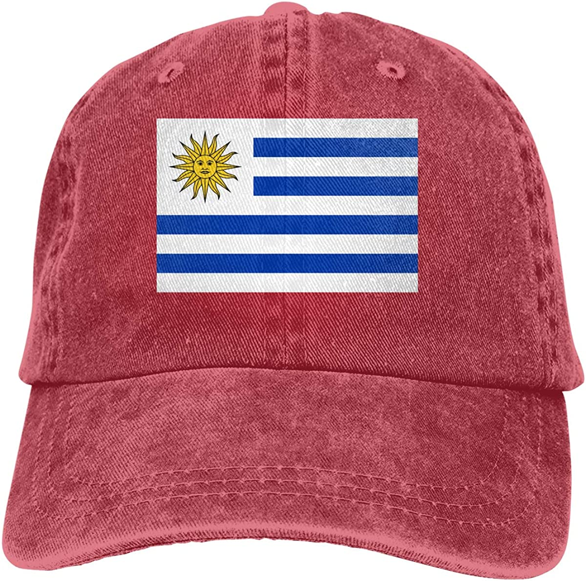 PMGM-C Uruguay Flag Unisex Trendy Jeans Hip Hop Cap Adjustable Baseball Cap