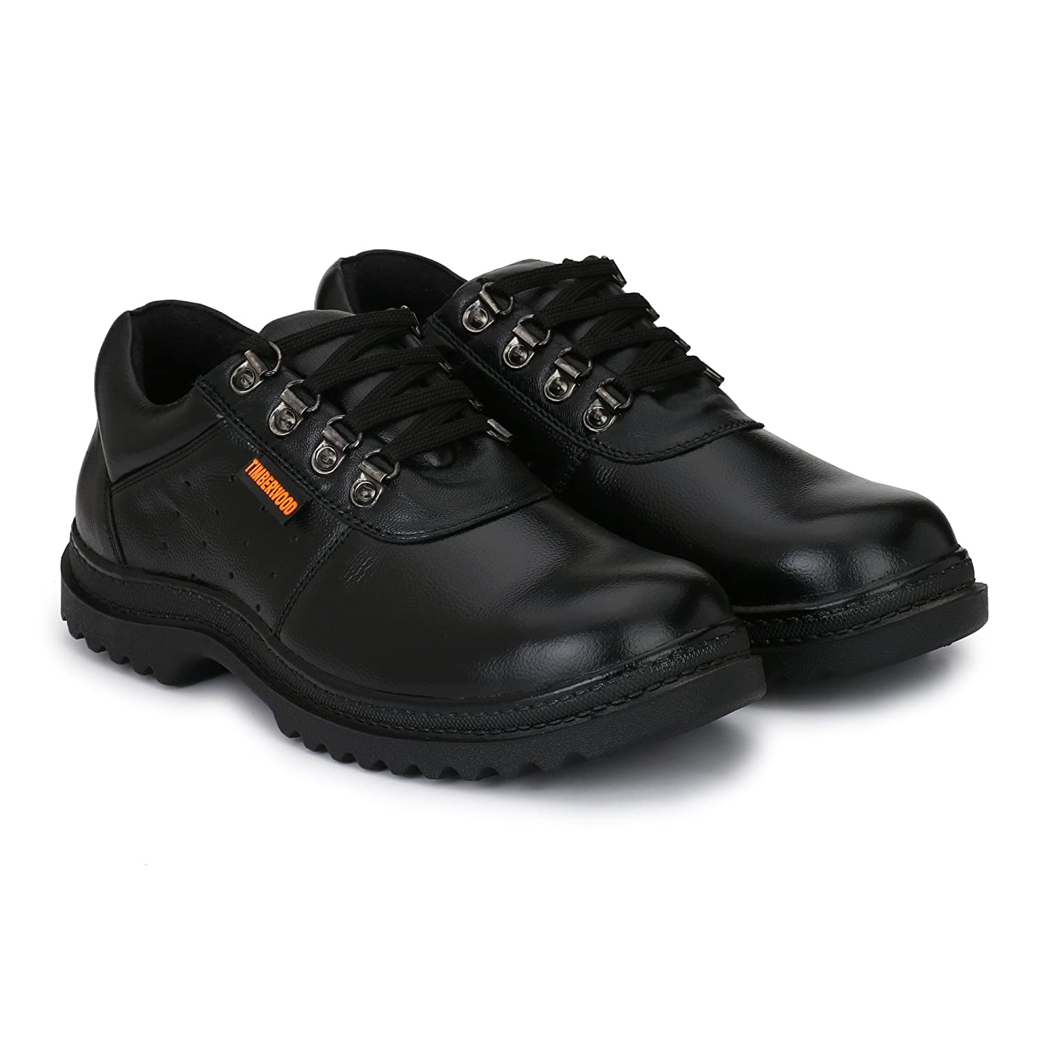 a92273639c59 Fashion Tree Timberwood Genuine Leather Steel Toe Safety Shoe For Men TW12A  (Black