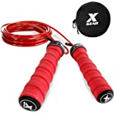 Endurance Training Premium Quality Fitness Workouts Boxing and MMA Best for for Cardio Jumping Exercise RainRider Weight Jump Rope