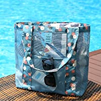 Naphele奈菲乐 时尚透明网眼沙滩包 单肩购物包 洗漱化妆品收纳袋