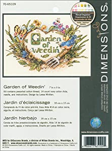 DIMENSIONS Garden of Weedin' Mini Counted Cross Stitch Kit-7