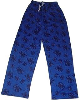 Mens Official Chelsea FC Long Pyjamas CFC Mens Football Club Pajamas Lounge Pants