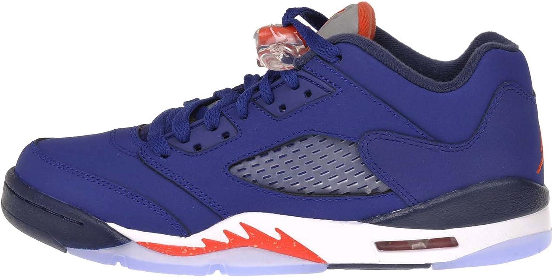 orange and blue jordan 5