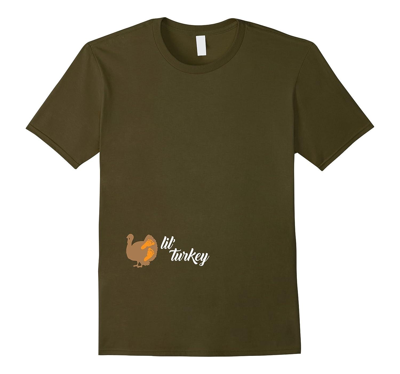Lil' Turkey Shirt, Cute Thanksgiving Pregnancy Announcement-CL