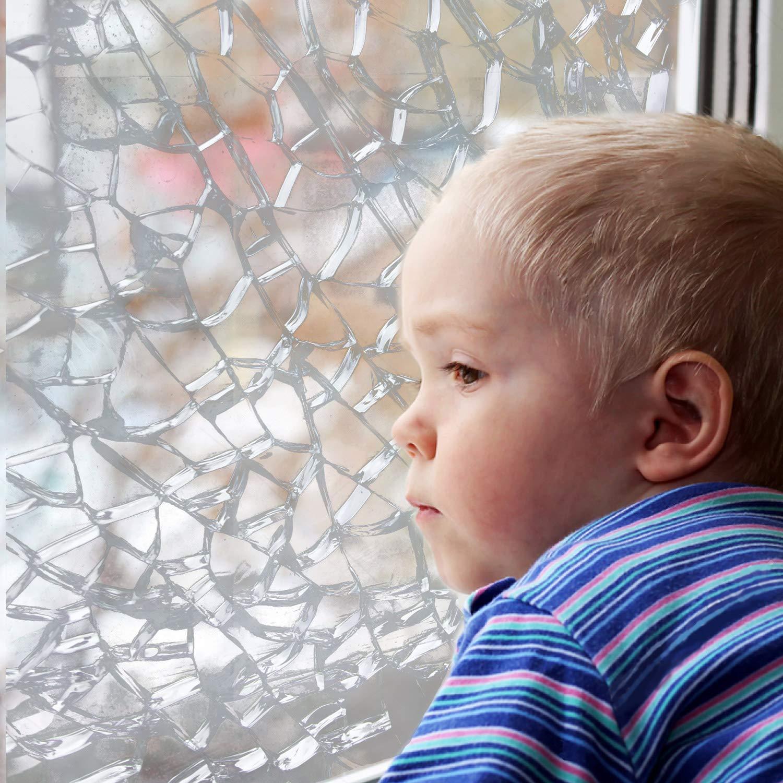 Bridgetown 2er Pack Splitterschutzfolie Sicherheitsfolie 90/% UV-Schutz Fensterfolie|2X 44.5 x 200cm EINWEGVERPACKUNG