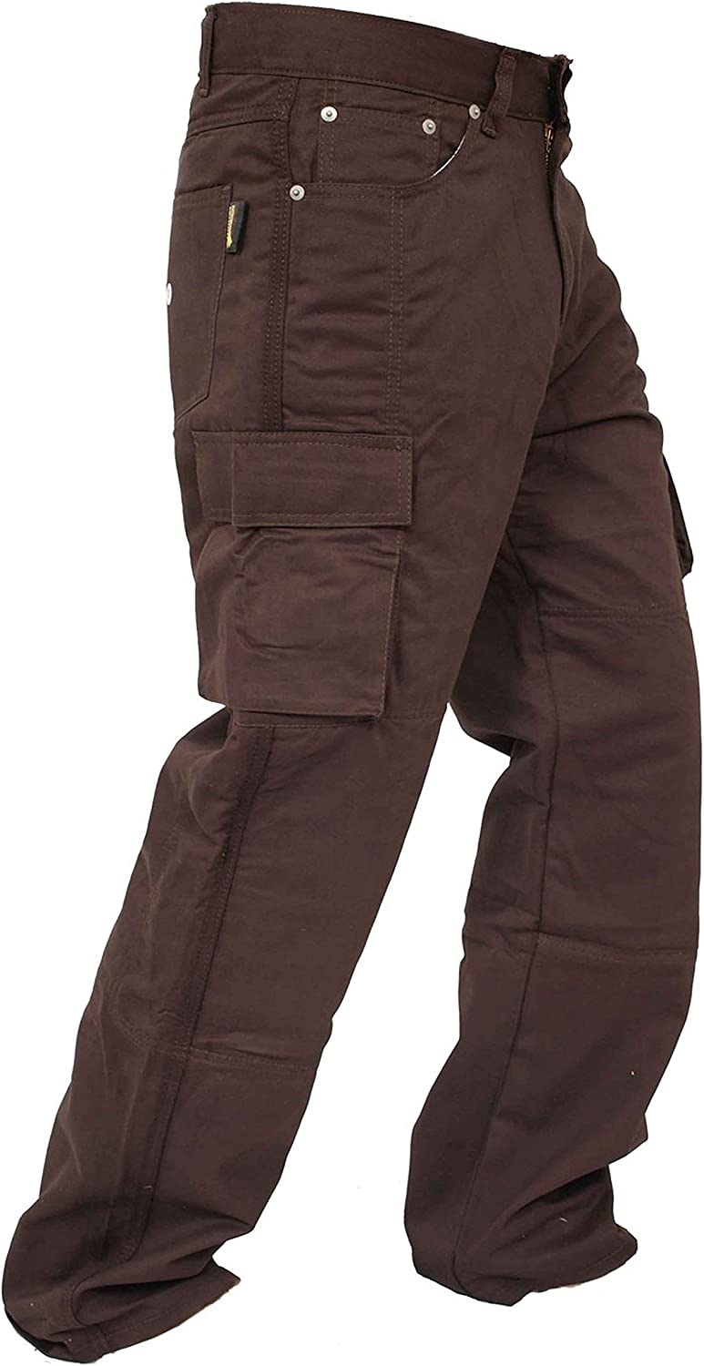 Newfacelook Mens Motorcycle Jeans Armored Denim Cargo Biker Pants Motorbike Trousers with Aramid Protection Lining