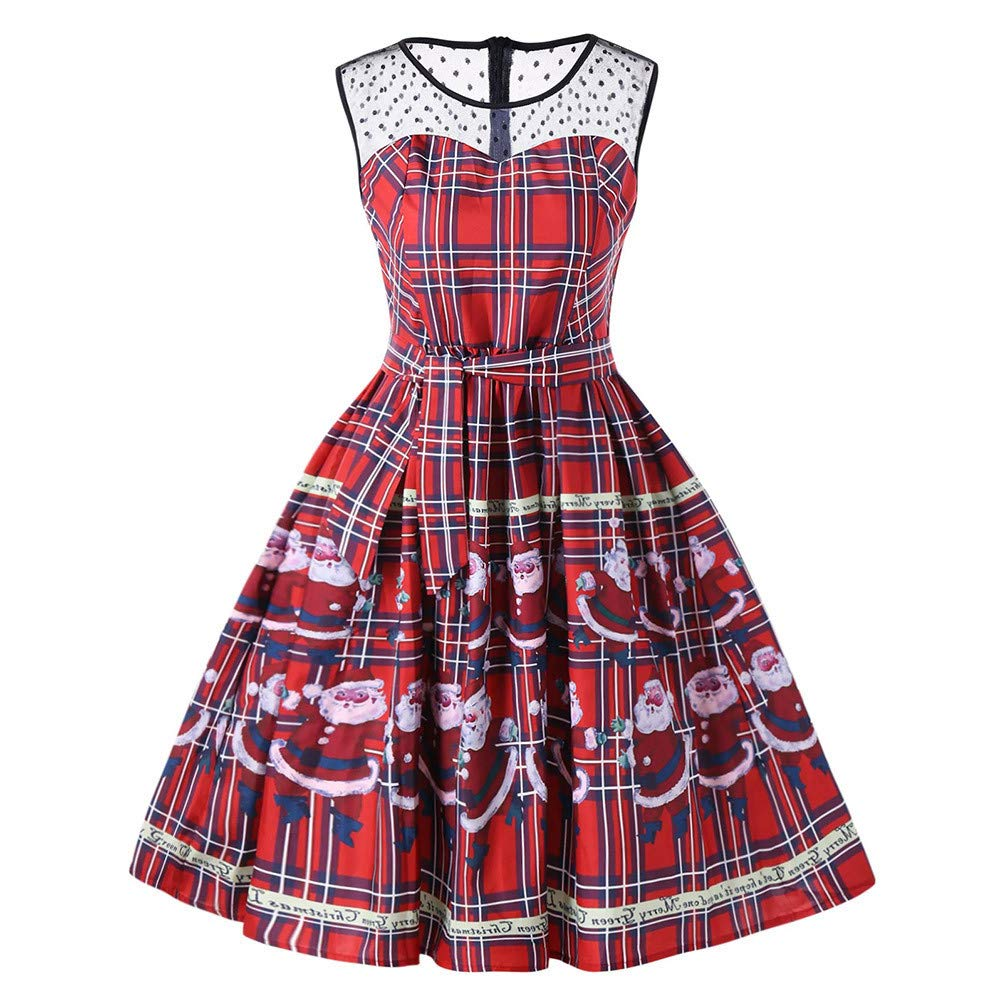 Womens Vintage 1950's Dress Sleeveless Garden Picnic Party Cocktail Dresses