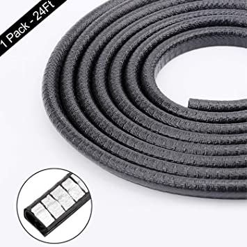4M White Car Door Trim Protectors Edge Guards Rubber Seal Strip//Easy Installation No Glue Required Internal Double Sided Tape,13ft U Shape