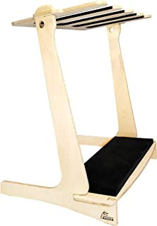 product image for Grassracks Bamboo or Birch Wood Vertical Freestanding Surfboard Storage Rack for 4 Surfboards Wakeboards Snowboards or Guitars (4 Boards or Guitars)