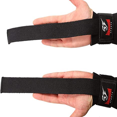 WEIGHTLIFTING BODYBUILDING WRIST BAR SUPPORT ARD PADDED WEIGHT LIFTING STRAPS