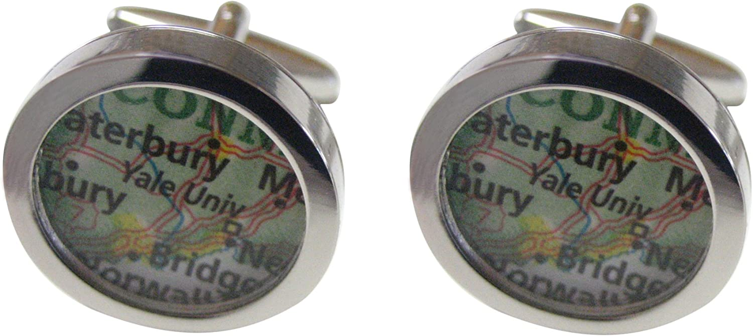 Kiola Designs Yale University Map Cufflinks