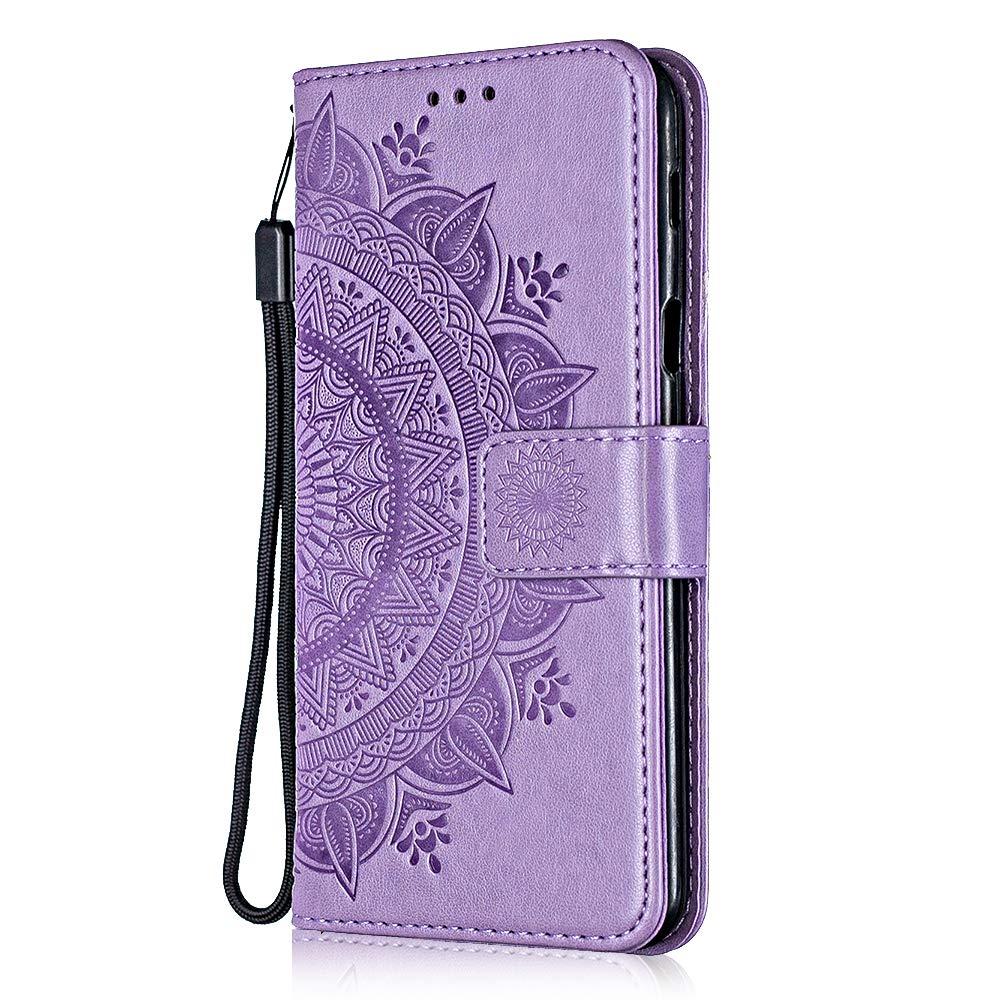Coque iPhone Xs Max, Bear Village® Multi-Usage Étui en Cuir avec Fonction de Support, Magnetique Housse de Protection pour Apple iPhone Xs Max (#3 Violet)