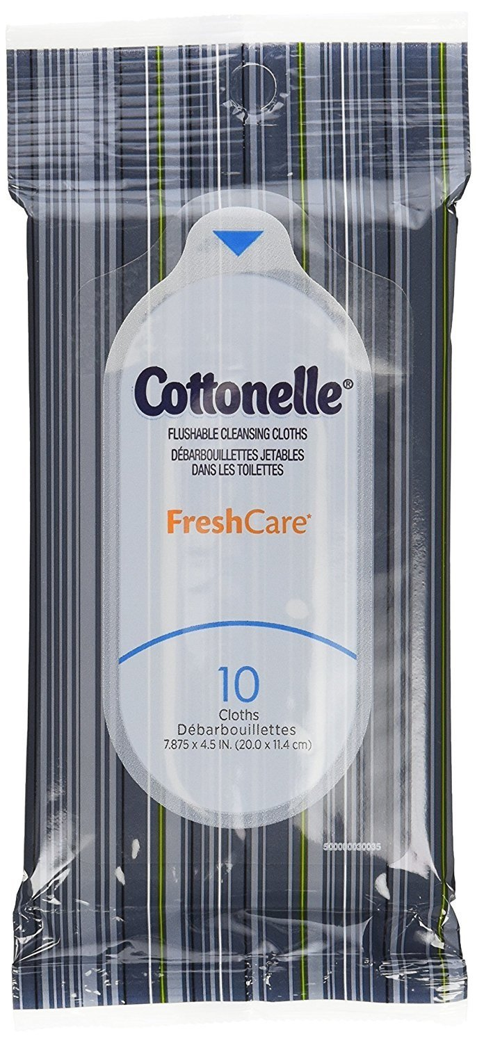 Cottonelle Fresh Care Flushable Wipes, Travel Pack, 24 Travel Packs of 10 Cloths Each, 240 Wipes Total