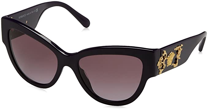dbf42bd39bb61 Image Unavailable. Image not available for. Color  Versace VE4322 50648H CatEye  Sunglasses Violet Violet ...