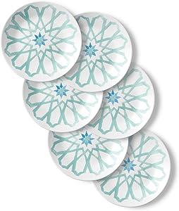 Corelle Chip Resistant Appetizer Plates, 6-Piece, Amalfi Verde
