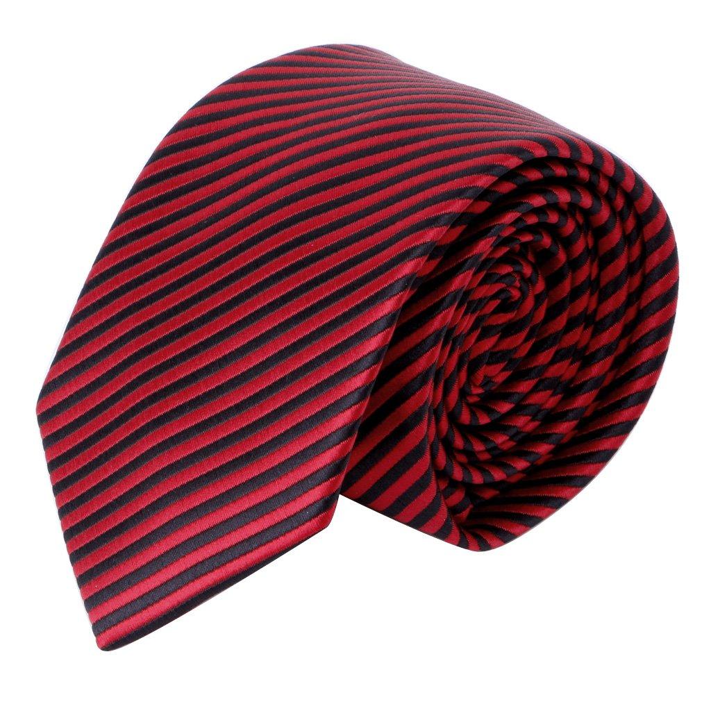 fogun Señor Mode clásica corbata a rayas jacquard Woven Agua ...